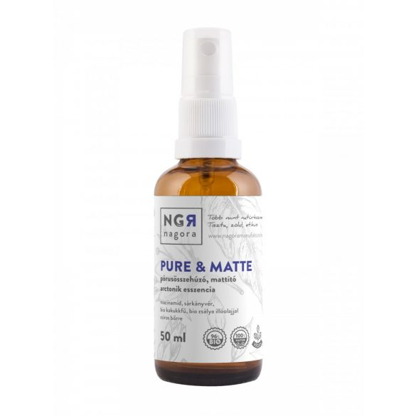 Pure&matte pórusösszehúzó, mattító arctonik esszencia zsíros bőr