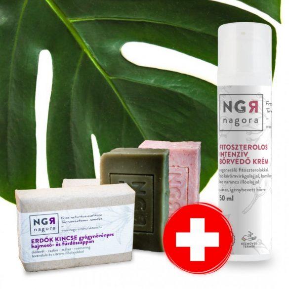 Kézfertőtlenítő szappan és bőrvédő krém csomag