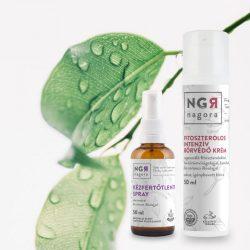 Kézfertőtlenítő spray és bőrvédő krém csomag