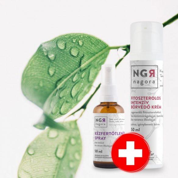 75% alkohol spray és bőrvédő krém csomag