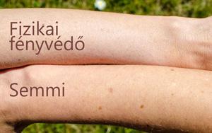 Mennyire látszik a bőrön a fizikai fényvédős naptej?